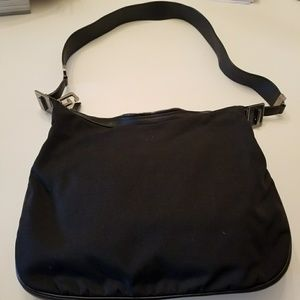 8c5f0435386 Gucci Bags - Vintage Gucci Black Nylon Hobo Bag with G Clasp